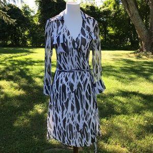 DVF Diane Von Furstenberg Wrap Dress Silk Zebra